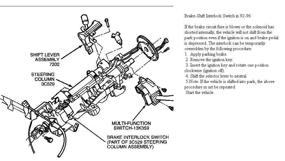 92 f250 steering column diagram